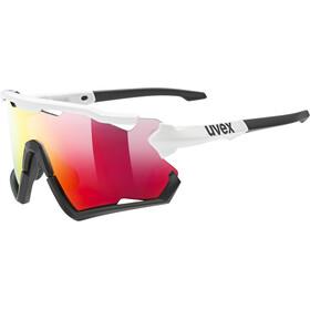 UVEX Sportstyle 228 Glasses white/black matt/mirror red
